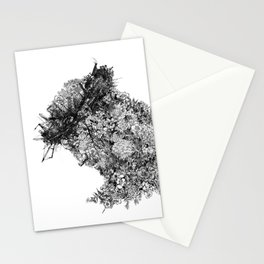 nature sacrifice-black and white portrait Stationery Cards