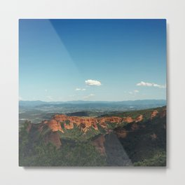 Red mountains Metal Print