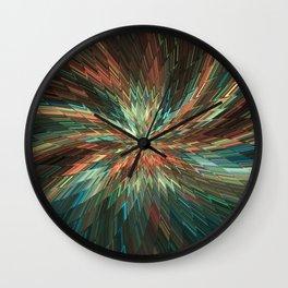 geometric flower 01 Wall Clock