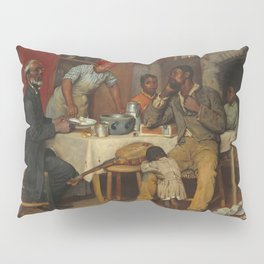 A Pastoral Visit, by Richard Norris Brooke, 1881 . An African American family Pillow Sham