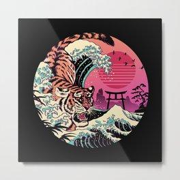 Rad Tiger Wave Metal Print