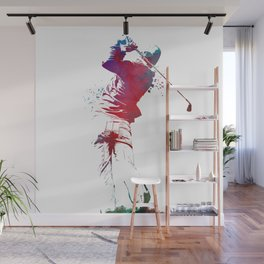 Golf player sport art #golf #sport Wall Mural