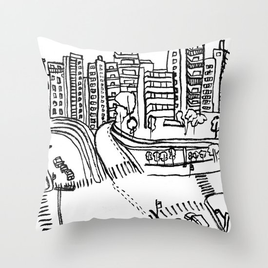 Room's view Throw Pillow