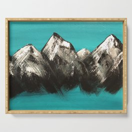 Turquoise Mountains by Noelle's Art Loft Serving Tray