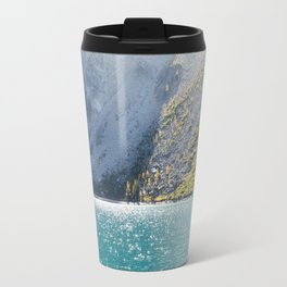 Sparkling Blue Water Alpine Lake Travel Mug