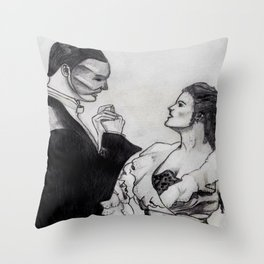 Erik & Christine Throw Pillow
