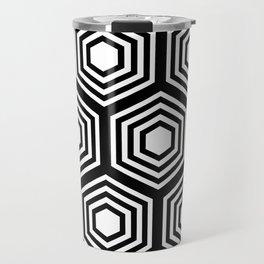 Monochrome Hex Travel Mug