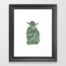 Yoda Star . Wars Framed Art Print