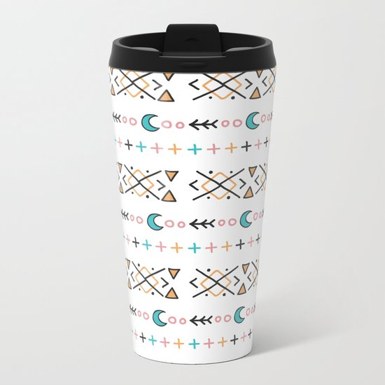 pattern form Metal Travel Mug