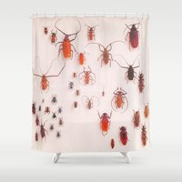 insects Shower Curtains featuring Insects by Poem Ball