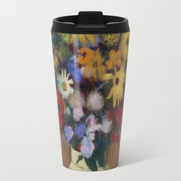 Odilon Redon - Large Bouquet In A Japanese Vase Travel Mug