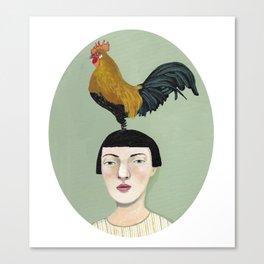 * TENGO PAJARITOS EN LA CABEZA * Canvas Print