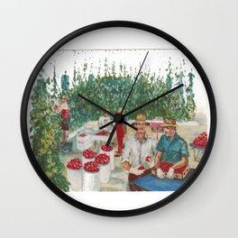 Tomato Growers,Australia             by Kay Lipton Wall Clock