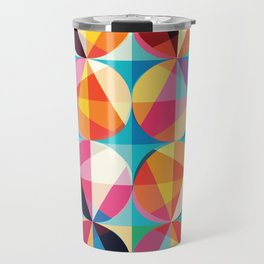 Beautiful colors Geometry, geometric abstract triangles circles squares Travel Mug
