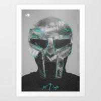 mf doom Art Prints featuring MF Doom by Alex Castro