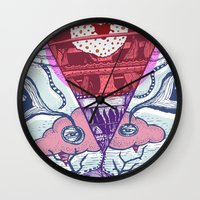 friday Wall Clocks featuring Friday by Andon Georgiev