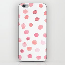 Pink Polka Dots iPhone Skin