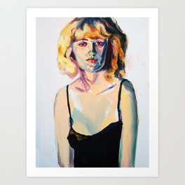 Portrait of Hannah Black Art Print