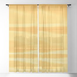 Summer Solstice Abstract Sheer Curtain