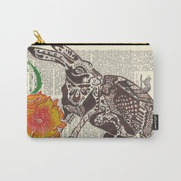 Jumpin' Jack Flash  (jack rabbit and cactus flower on dictionary page) Carry-All Pouch