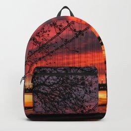 Sunrise at the Bridge Backpack