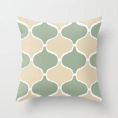 MARRAKECH Sand Green Throw Pillow