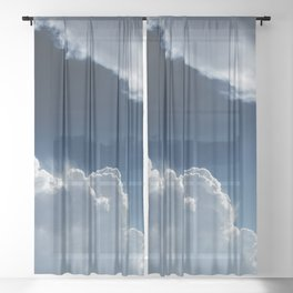 Sky, clouds and lights. Sheer Curtain