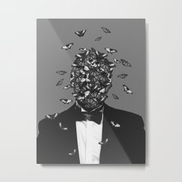 butterfly face V2 Metal Print