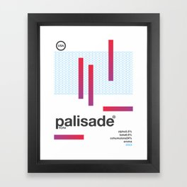 palisade single hop Framed Art Print