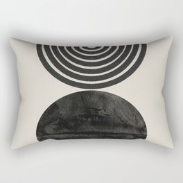 Woodblock Print, Modern Art Rectangular Pillow