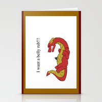 smaug Stationery Cards featuring Whiny Smaug by Rshido