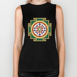 Sri Yantra colored Biker Tank