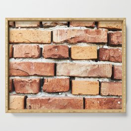 Brick Wall Background Serving Tray