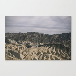 Death Valley: Zabriskie Point  Canvas Print