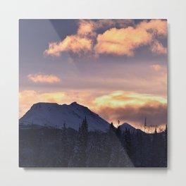 Flat_Top Sunrise Serenity Rose Metal Print