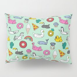 Pool floats fun summer holiday pool party pattern Pillow Sham