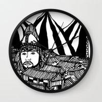 korea Wall Clocks featuring Korea by Matt Ferguson