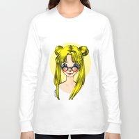 sailormoon Long Sleeve T-shirts featuring Usagi Sukino by Sailisally