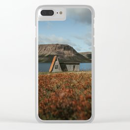 Cabin in the Westfjords of Iceland Clear iPhone Case