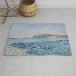 Shadows on the Sea at Pourville by Claude Monet Rug