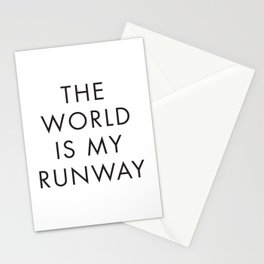 The World is my Runaway, Inspirational Quotes, Affiche Scandinave, Wall Art, Contemporary Print Stationery Cards