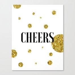 Champagne Quotes Cheers POP FIZZ CLINK Sign Printable Art Foil Print Gold Foil Alcohol Quote Canvas Print