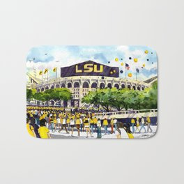 LSU Game Day Bath Mat