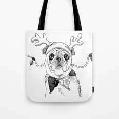 Jingle Pug Tote Bag
