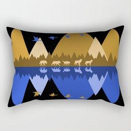 Wolfpack Passage #7 Rectangular Pillow