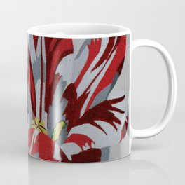 Red & White Tulip Coffee Mug