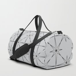 starburst in black and white on grey Duffle Bag