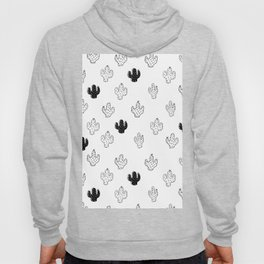 CACTUSES - 3D , black and white Hoody