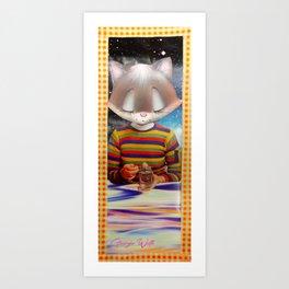 Bulb handcut collage Art Print