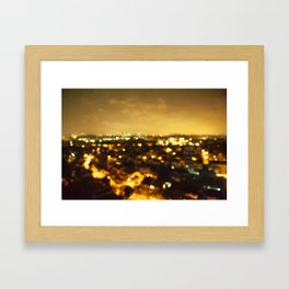 but if the bright lights don't receive you Framed Art Print